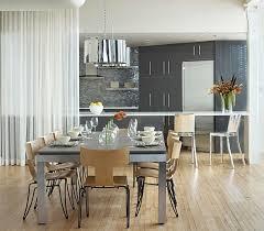 esszimmer und küche mit einem vorhang abtrennen offene