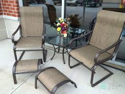 This Summer Winds Patio Set Includes 2 Chairs, 2 Footstools ... Outdoor Fniture Fabric For Sling Chairs Phifer Cheap Modern Metal Steel Iron Textilener Teslin Stackable Stacking Arm Terrace Bistro Patio Garden Chair Buy Amazoncom Mzx Wicker Tear Drop Haing Gallery Capeleisure1 Lakeview Bocage 7 Piece Cast Alinum Ding Set Bali Rattan Bag On Carousell New Gray Frosted Glass Interesting Target With Amusing Eastern Ottomans Footrest Ftstools Sale Mkinac 40