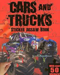 100 50 Cars And Trucks Amazoncom And Sticker Jigsaw Book With Over