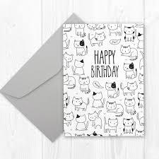 Funny CAT Birthday Card Funny Birthday Card For Boyfriend Etsy