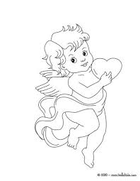 Heart Lovers Cupid Nad Coloring Page