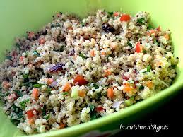 comment cuisiner du boulgour salade de quinoa et boulgour la cuisine d agnèsla cuisine d agnès