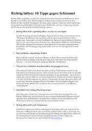richtig lüften 10 tipps gegen schimmel