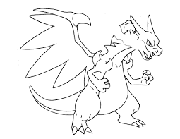 Ingenious Ideas Pokemon Coloring Pages Ex Pages5 Mega Charizard With