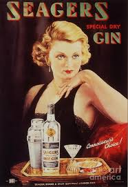 Seagers 1930s Uk Glamour Gin Cocktails Drawing By The Advertising