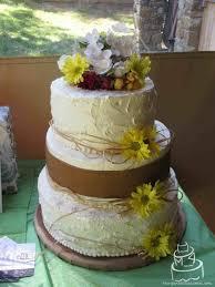 Laura Burlap U Lace Rustic Cake S