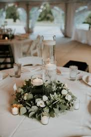 Minimalist And Budget Friendly Wedding At Oatlands Historic House Gardens Bridal Table DecorationsGreen CenterpiecesFloating