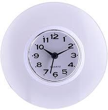 saugnapf wasserdicht runde mini wanduhr quarz uhren dekoration für badezimmer küche wohnzimmer schlafzimmer weiß