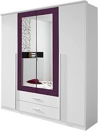 rauch möbel krefeld schrank kleiderschrank drehtürenschrank in weiß brombeer 4 türig mit spiegel und 2 schubladen bxhxt 181x199x56 cm