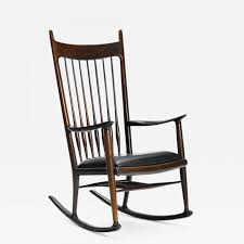 Sam Maloof - An Early Rosewood Rocking Chair By Sam Maloof