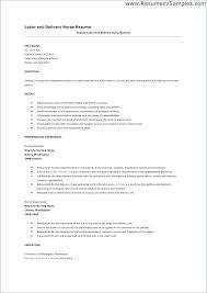 Labor And Delivery Nurse Resume Awesome Sample