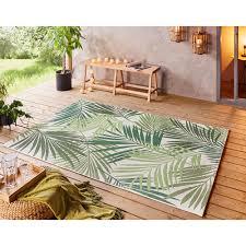 flachgewebe in und outdoor teppich vai grün creme teppich