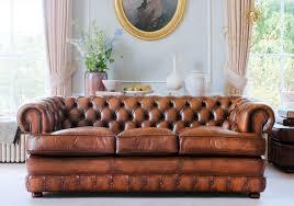 canap chesterfield cuir vieilli canapé chesterfield en cuir 3 places marron edward fleming