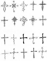 Small Cross Tattoo 4366