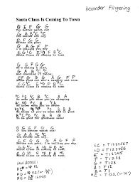 Rockin Around The Christmas Tree Chords Beatles by Miss Jacobson U0027s Music Recorder Holiday Music M Z