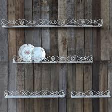 Rustic Metal Wall Shelves Set Of 4