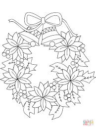 Click The Christmas Wreath Coloring Pages