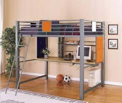 bedroom cool bunk bed with desk ikea metal loft walmart bedroom
