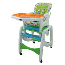 Phoenix Hub 4 In 1 High Chair Rocker Study Table BS-8602 Convertible  Lightweight Portable Durable High Chair Table With Removable Food Tray And  Rocker