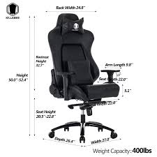 100 Heavy Duty Office Chairs With Removable Arms Amazoncom KILLABEE Big And Tall 400lb Memory Foam Gaming Chair