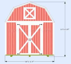 10x10 Shed Plans Blueprints by 10 U0027x10 U0027 Gambrel Shed Plans With Loft