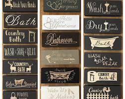 Bathroom Signs Decor Wooden Powder Room Sign Mini Wood
