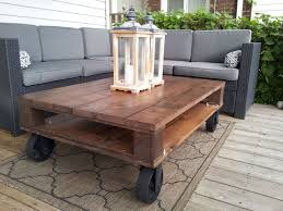 Diy Pallet Outdoor Coffee Table Making A Outdoor Pallet Coffee