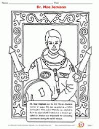 Womens History Month Printables Dr Mae Jemison Coloring Page