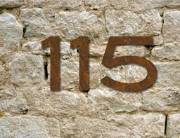 2 Rustic House Numbers Or Letters Blair Font
