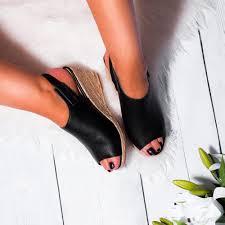 jeneva black wedge shoes from spylovebuy com