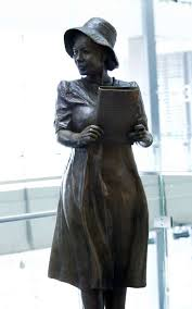 The Sculpture Of Alice Allison Dunnigan Is Seen During A Ceremony At Newseum Friday