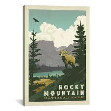 100 Mountain Design Group Details About ICanvas ART Anderson ASA National Park Rocky National Park