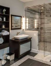 Guest Bathroom Ideas With Amazing Tiles In Walk In Shower And Vessel ... From A Floating Vanity To Vessel Sink Your Ideas Guide Stylish And Diverse Bathroom Sinks Oil Dectable Small Mounting Cabinet Led Gorgeous For Elegant Vanities Sets Design White Mini Lowes 12 Inch Wide 13 Valve 16 Guest With Amazing Tiles In Walk Shower And Cabinets Large Unit Wooden Designs Homebase Grey Corner Modern Exotic Pictures Of Bowl Glass Inspiring Diy Netbul Beautiful 47 High End Bathroom Vessel Sinks Made By