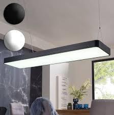 finebuy led deckenleuchte cord metall eek a büro deckenle 64 watt 120 x 121 x 30 cm design arbeitsplatz hängele 5440 lumen kaltweiß ohne