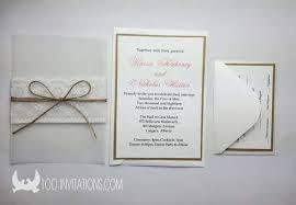Lace Wedding Invitations Free Shipping