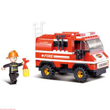 100 Mini Fire Truck Sluban Building Blocks Educational Kids Toy 133PCS