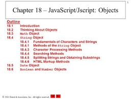 Mathceil Javascript W3schools by Chapter 12 Objects Cis 275 U2014web Application Development For