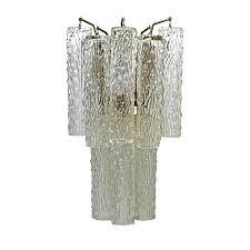 deco venini draped organic style glass wall sconce lighting