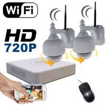 ip filaire exterieur kit vidéosurveillance ip 2 éras extérieur pilotable wifi hd
