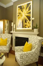 Gray And Yellow In The Living Room A Homedit