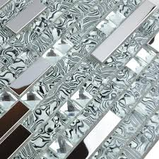 glass mosaic tile backsplash interlocking metal glass tws052