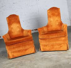 Details About Vintage Hollywood Regency Orange Velvet High Back Pair Of  Chairs By Perfection F Hollywood Regency Vintage Louis Xvi Style Pair Of High Back 1960s Tufted Ivory Velvet Armchair Chairs In Animal Hollywood Regency Retro 70s Highback Arm Mid Century Attributed To Adrian Pearsall For Craft A Set 2 Everything You Need To Know About Design Palma Lounge Chair Green Xk64 Advancedmasgebysara