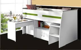 lit enfant bureau lit enfant combiné blanc 90x200 avec bureau