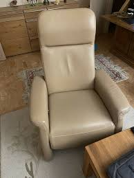 ledersessel wohnzimmer hochwertig beige sessel