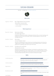 Maintenance Worker - Resume Samples & Templates | VisualCV Best Of Maintenance Helper Resume Sample 50germe General Worker Samples Velvet Jobs 234022 Cover Letter For Building 5 Disadvantages And 18 Job Examples World Heritage Hotel Com Templates Template Man Cv Maintenance Job Resume Examples Worldheritagehotelcom 11 Awesome Ideas 90 Report Lawn Care Description For