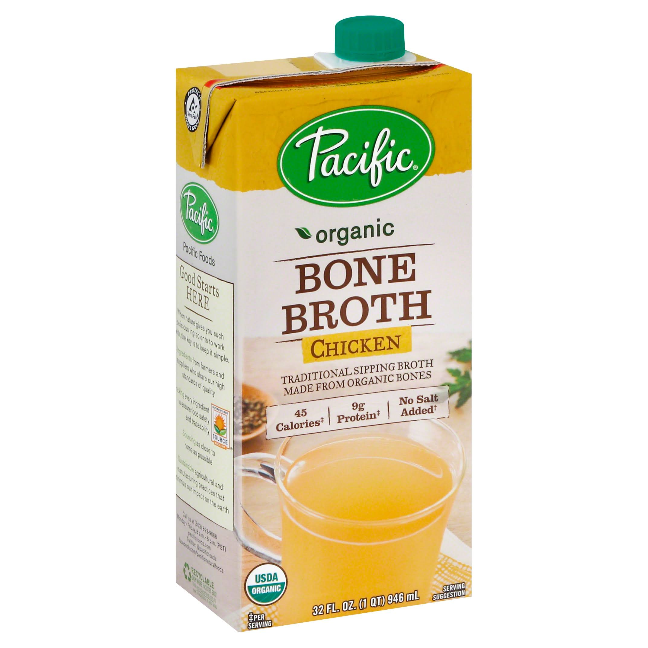 Pacific Organic Broth, Bone, Chicken - 32 fl oz