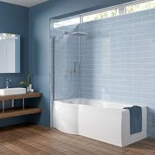 Mode 8mm Walk In Shower Glass Screen With Left Handed Black Tray 1200 X 800