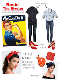 Rosie The Riveter Halloween Tutorial by Rosie The Riveter Halloween Costume We Can Do It Costume
