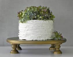 Gold Cake Stand 20 Vintage Topper Rustic Wedding Event Decor E