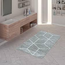 kurzflor badematte rauten design in unterschiedlichen farben
